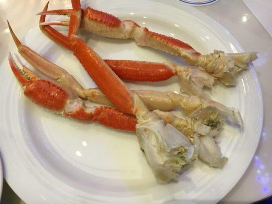 ホテルメトロポリタンエドモントのディナーバイキングの蟹