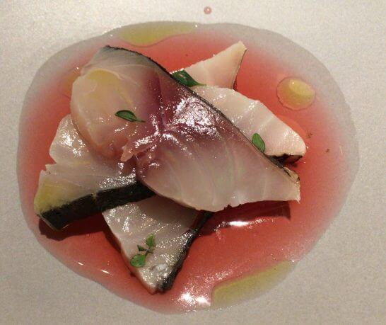 ヴァリノールの白身魚のカルパッチョ