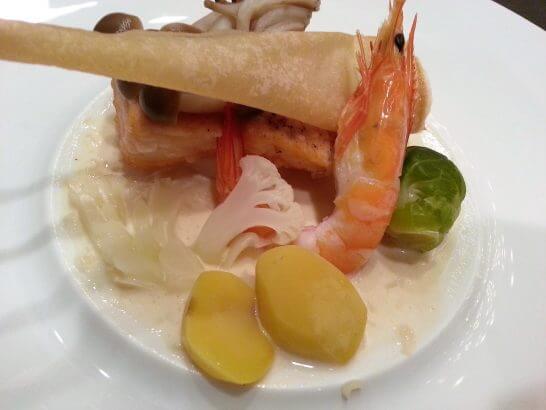 休暇村奥武蔵の夕食のお魚料理