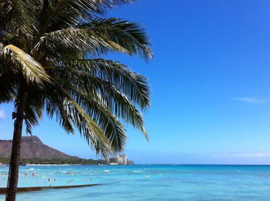 ハワイ(ホノルル)のビーチ