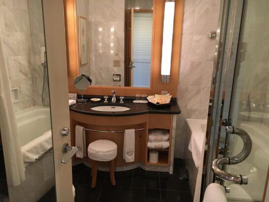 帝国ホテル大阪のバスルーム