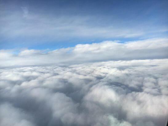 ANAの飛行機からの景色