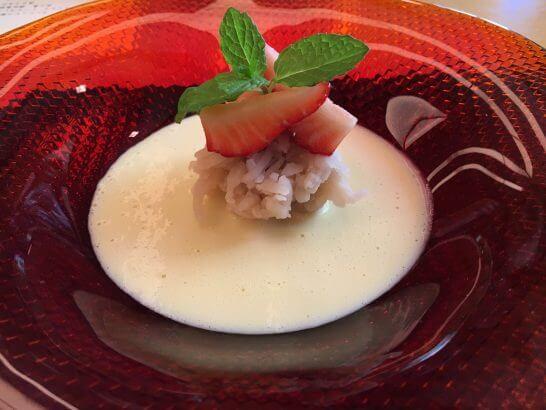 日本料理「はなの」の「なでしこ」の水菓子のアップ