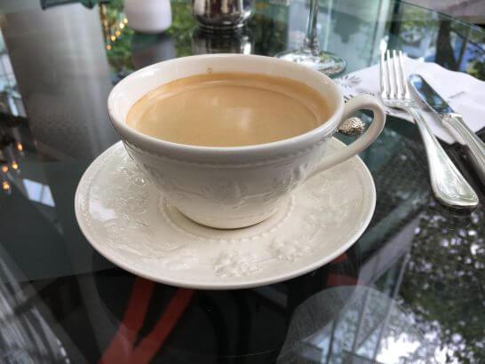 ウェスティンホテル大阪のロビーラウンジのコーヒー