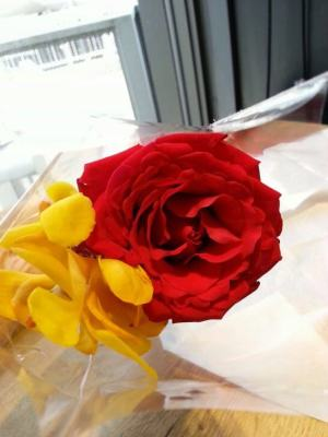 記念日の花
