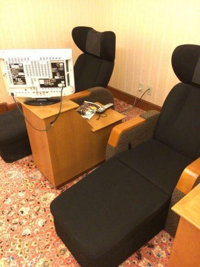 リーガロイヤルホテル東京のヘルスクラブの椅子