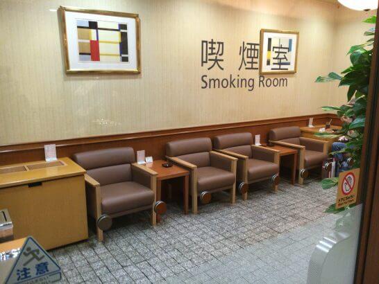 羽田空港のPOWER LOUNGE CENTRAL の喫煙室
