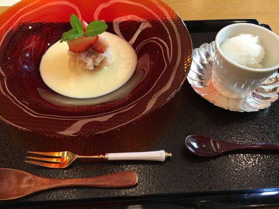 日本料理「はなの」の「なでしこ」の水菓子