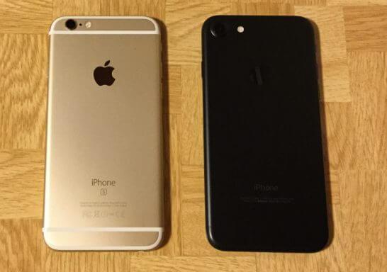 iPhone 6sとiPhone7(裏面)