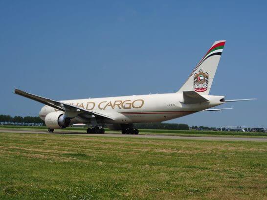 エティハド航空の飛行機