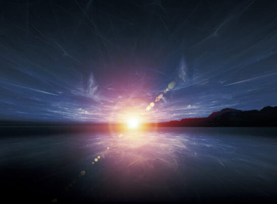 湖畔と閃光のイメージイラスト