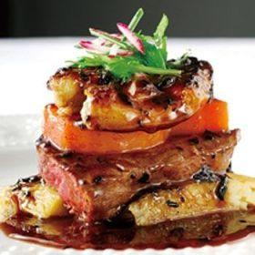 特選・牛フィレ肉のステーキ フランス産フォアグラのポアレを添えて