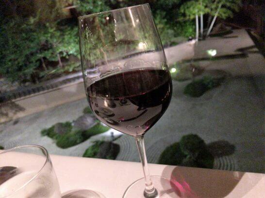 ハイアットリージェンシー京都「THE GRILL」の赤ワイン
