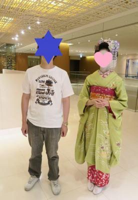ハイアットリージェンシー京都での舞妓さんとの記念撮影
