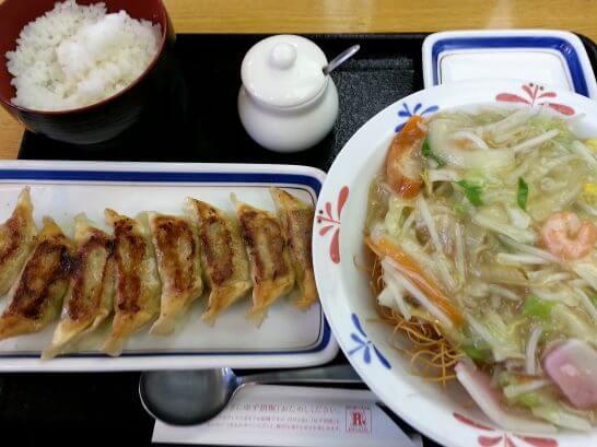 長崎皿うどん・餃子・ライスセット