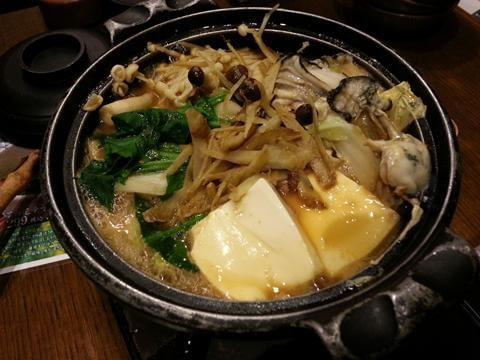 ワタミの牡蠣の味噌鍋
