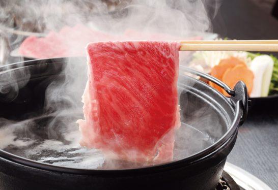 佐賀牛肩ローススライスすき焼き用の調理例