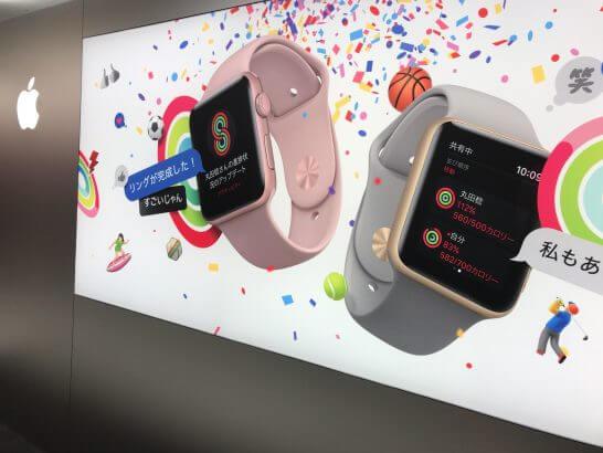 Apple Watchの看板