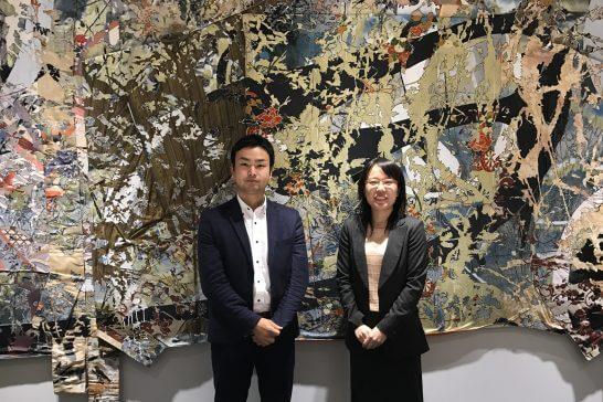 マネックス証券 営業本部の西尾さん、岩井さん (1)