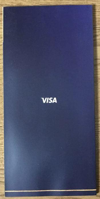 Visaプラチナダイニングの冊子裏面