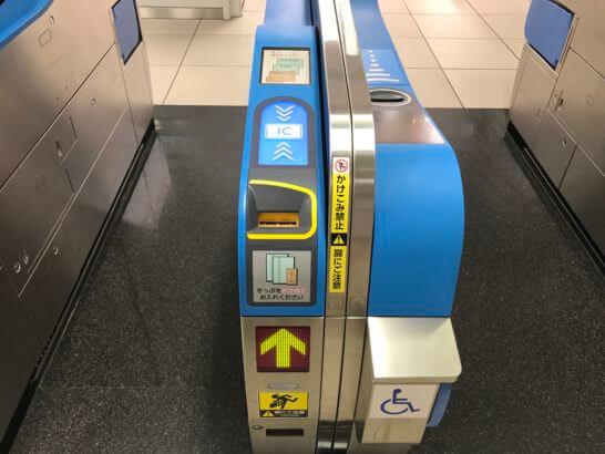 東海道新幹線の改札