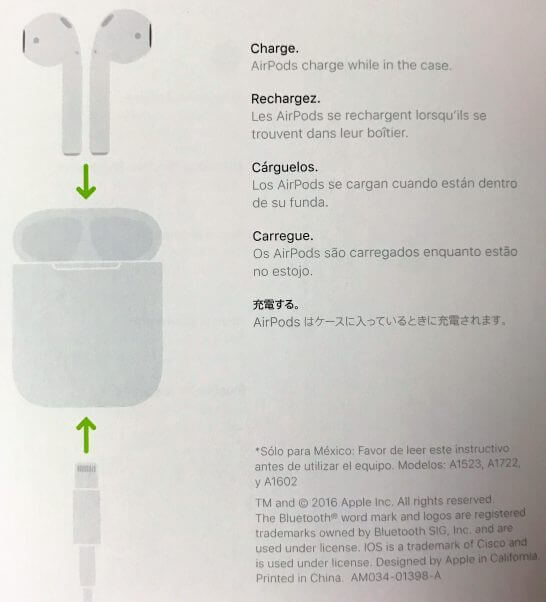 AirPodsの充電の流れ