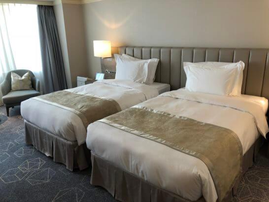 名古屋マリオットアソシアホテルのベッド(デラックスルーム)
