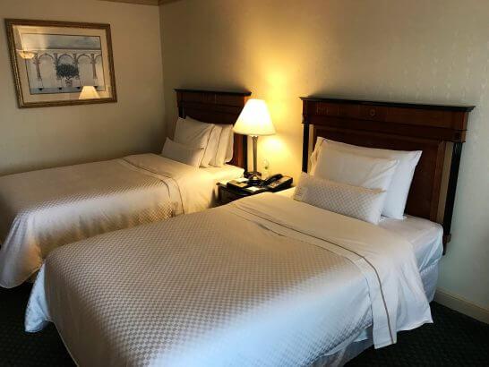 ウェスティンホテル東京のデラックスルームのベッド