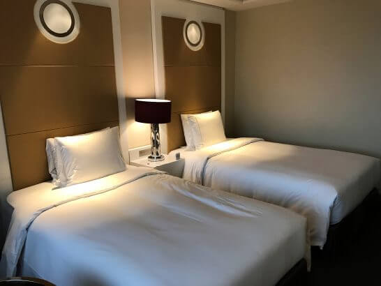 東京マリオットホテルのベッド