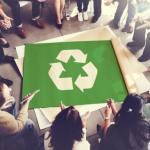 リサイクル・リユースによるエコのイメージ