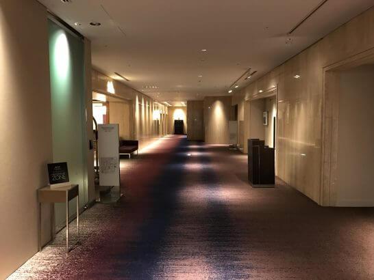 東京マリオットホテルの廊下