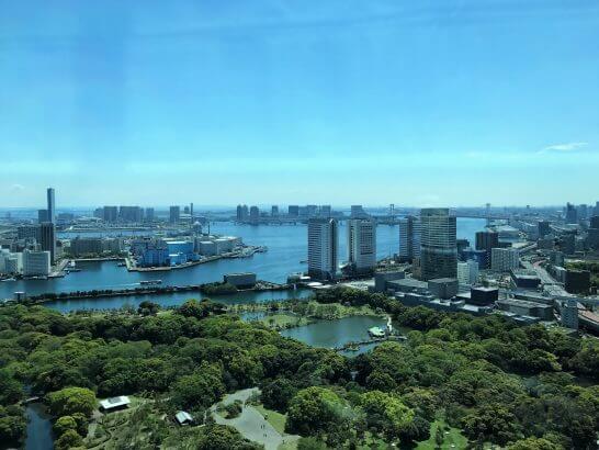 コンラッド東京の風花の窓からの眺め