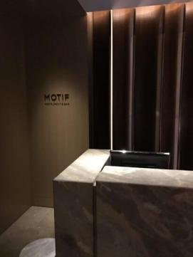 フォーシーズンズホテル東京のMOTIFの受付