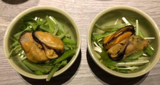 東京マリオットホテルのエグゼクティブラウンジの牡蠣