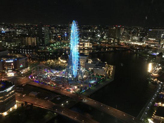 横浜グランドインターコンチネンタルホテルの夜景(街側)