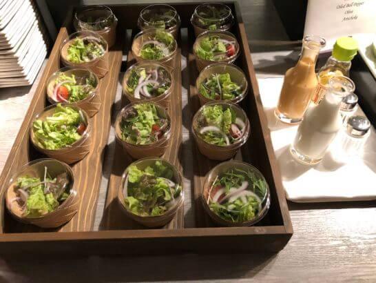 東京マリオットホテルのエグゼクティブラウンジの生野菜