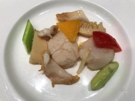 ホタテ・つぶ貝・筍の塩味炒め