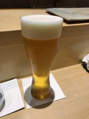 鮨さいとうのビール