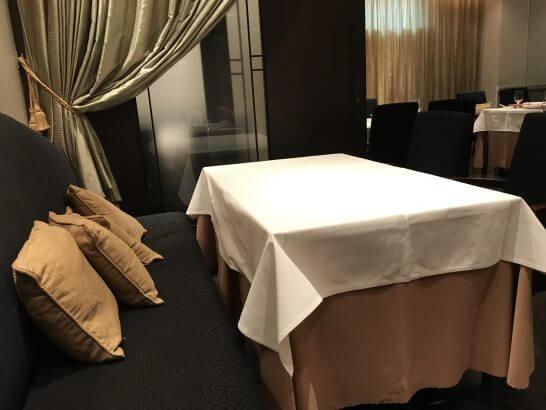 重慶飯店 麻布賓館の席
