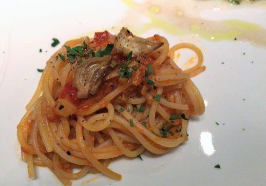 ジャッジョーロ銀座 (カロチーノオイルを使ったスパゲティ)