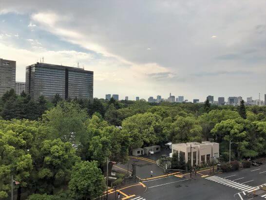 ミーティングスクエアのラウンジからの眺め(インペリアルスイートと同じ)
