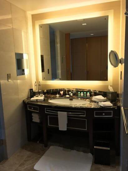 シャングリラ・ホテル東京の洗面台