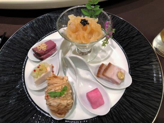 品川プリンスホテルの中華レストランのコース料理 (前菜)