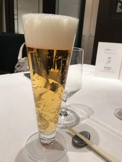 重慶飯店 麻布賓館のビール