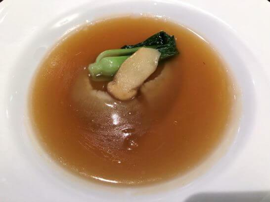 品川プリンスホテルの中華レストランのコース料理 (フカヒレ)