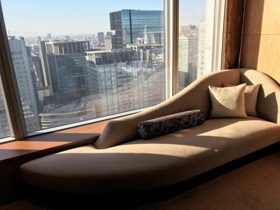 シャングリラホテル東京のソファー