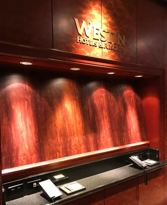 ウェスティンホテル&リゾートの看板