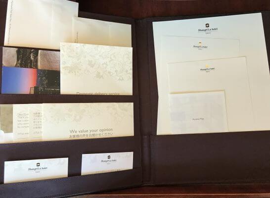 シャングリラホテル東京の便箋類