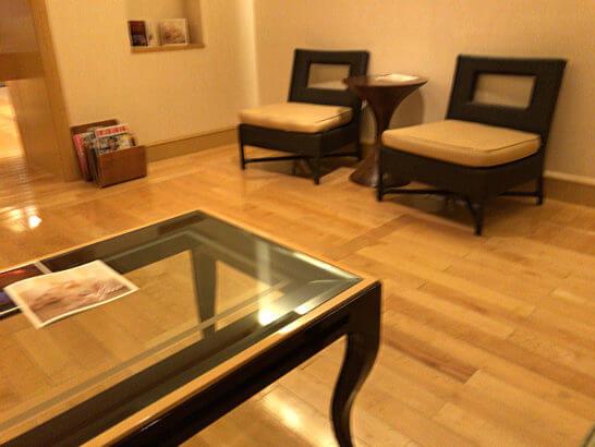 ザ・リッツ・カールトン東京のスパの待合室