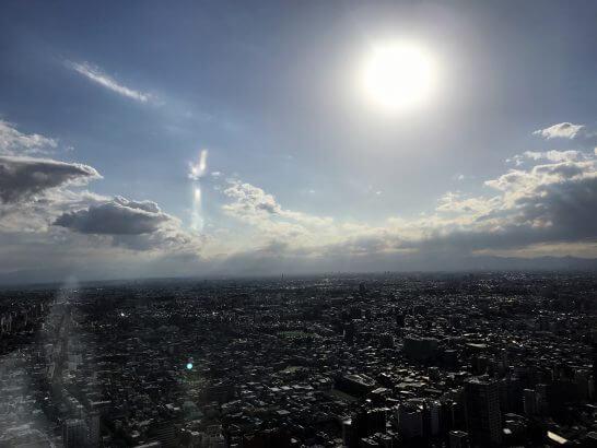 パークハイアット東京のパークデラックスツインからの眺め